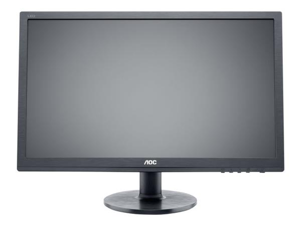 "AOC e2460Sh 24"" 1920x1080 1ms HDMI DVI-D VGA Black Monitor with Speakers"