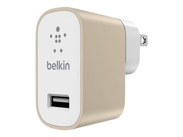 Belkin Premium MixIt Fast 2.4Amp Mains Charger (UK Plug) - Gold