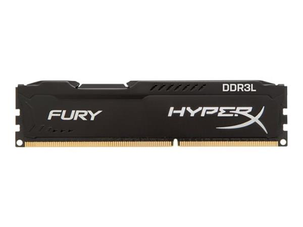 HyperX FURY Black 8GB DDR3L 1600MHz CL10 DIMM Memory