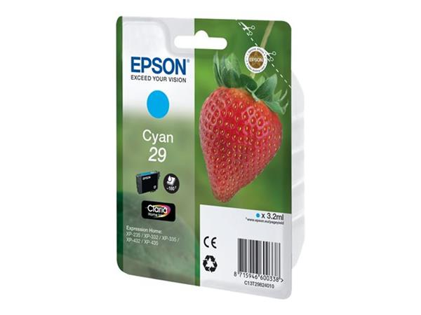 Epson XP235/332/335/432/435 Cyan Ink Cartridge