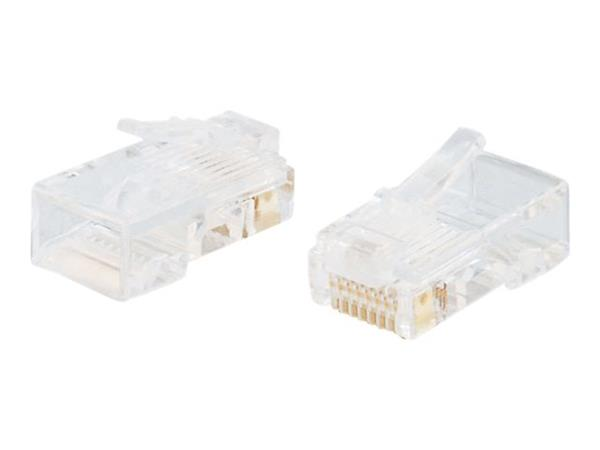 C2G RJ45 Cat5 8x8 Modular Plug for Flat Stranded Cable - 25pk