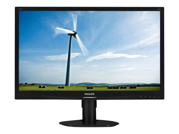 "Philips S-line LED monitor  22""  1680 x 1050 DVD-D VGA"