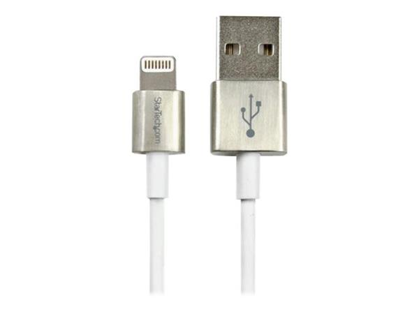 StarTech.com 1m Metal Lightning Cable - White