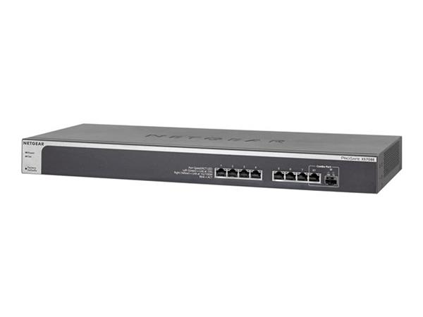 NETGEAR ProSafe Plus XS708Ev2 Switch 8 Ports Managed Desktop, Rack-Mountable