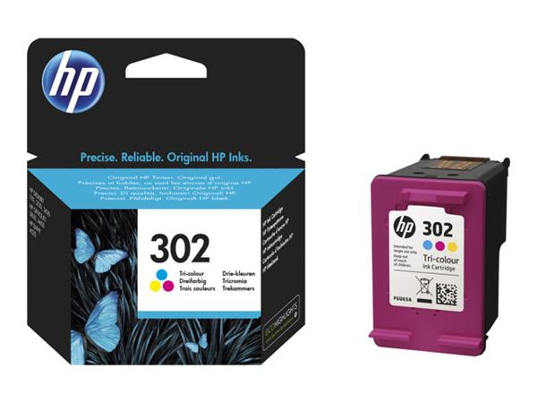 HP 302 F6U65AE 1 x Yellow 1 x Cyan 1 x Magenta Ink Cartridge