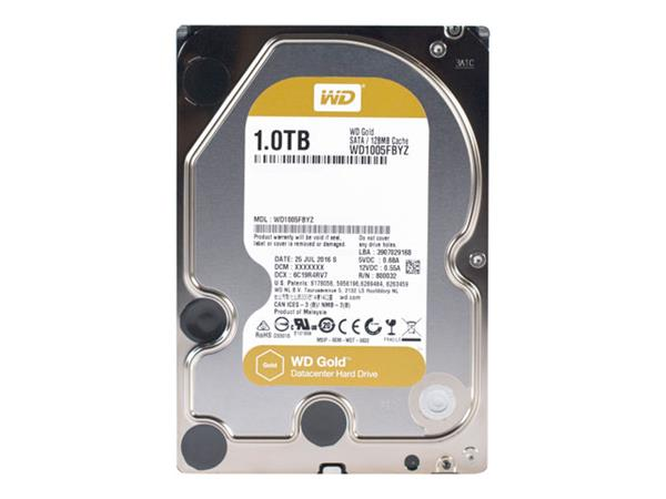 "WD 1TB Gold Datacenter 7200RPM SATA 6Gb/s 3.5"" Hard Drive"