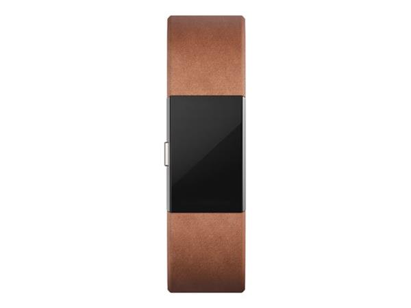 Fitbit Charge 2 Leather Band - Brown Small