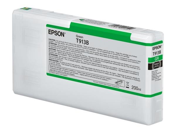 Epson T913B - 200 ml - green - original - ink cartridge -