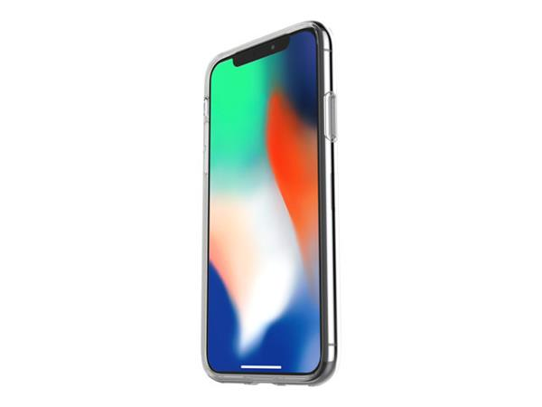OtterBox Clearly Protected Skin for iPhone X - Clear with Alpha Glass
