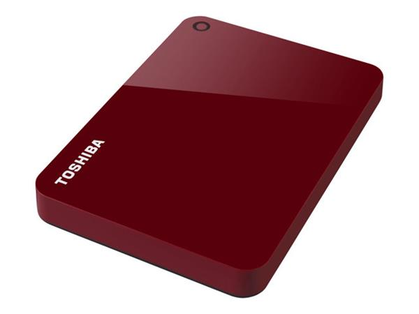 "Toshiba 2TB Canvio Advanced USB 3.0 2.5"" Portable Hard Drive Red"
