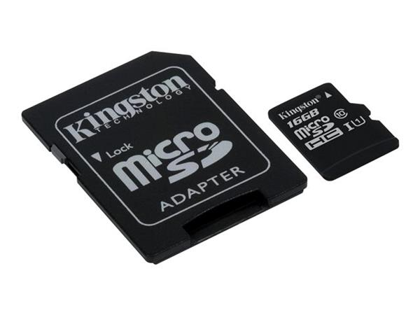 Kingston 16GB Canvas Select Class 10 UHS-I microSDHC