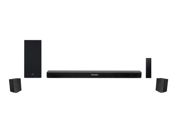 LG SK5R High Res Audio Bluetooth Soundbar with Wireless Subwoofer, Rear Surround Speakers