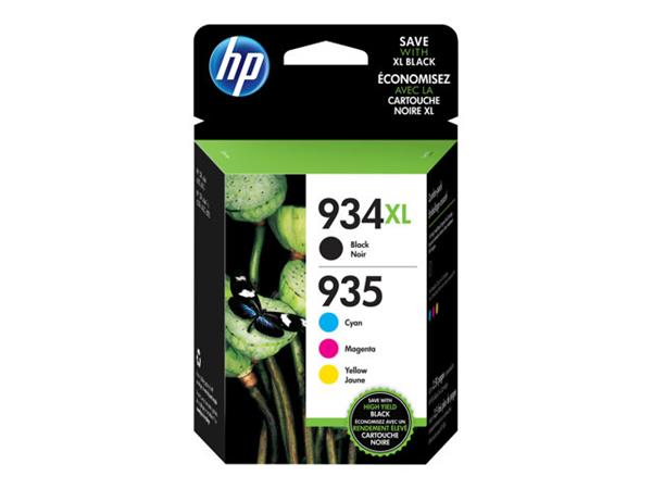 HP 934XL High Yield Ink Cartridge - Black, Yellow, Cyan, Magenta