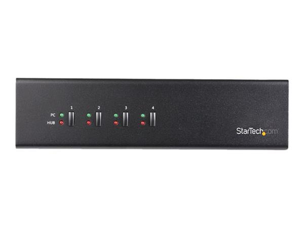 StarTech.com 4-Port Dual-Monitor Dual-Link DVI USB KVM switch