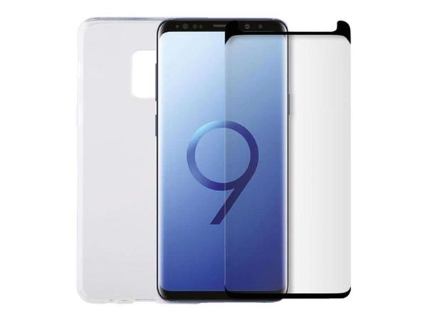 Minute One Glass Screen Protector + Clear Case Bundle - Galaxy S9+