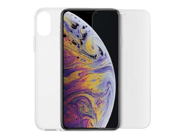 Minute One iPhone X / Xs - Glass Screen Protector + Clear Case Bundle