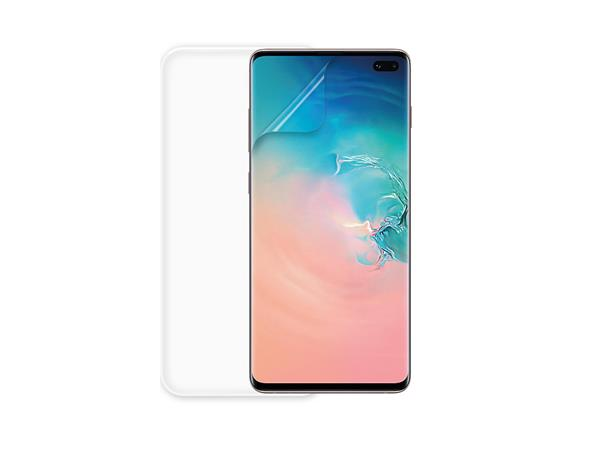 Minute One Galaxy S10+ Glass Screen Protector + Clear Case Bundle