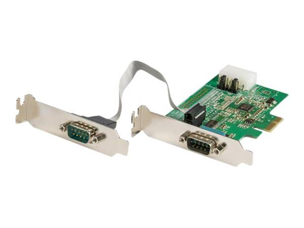 StarTech.com 2 Port RS232 Serial Adapter Card with 16950 UART - 921.4Kbps