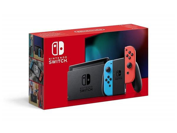 Nintendo Switch HW - Neon Red and Neon Blue (2019 Version)