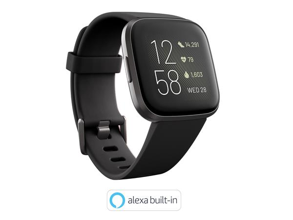 Fitbit Versa 2 Smartwatch - Black/Carbon