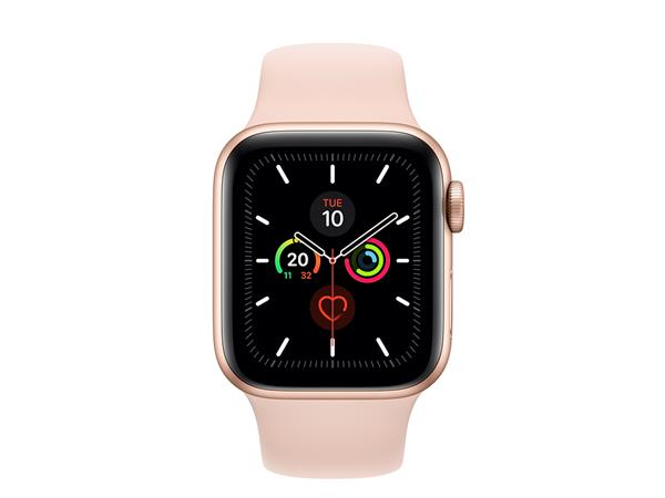 Apple Watch Series 5 GPS + Cellular, 40mm Gold Aluminium Case with Pink Sand Sport Band