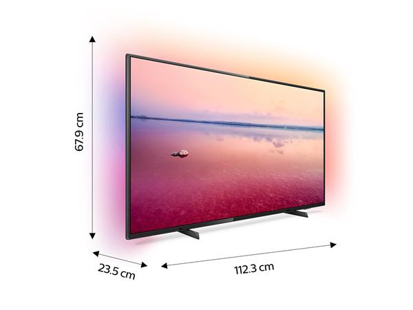 "Philips 50"" 4K UHD LED Smart TV with Ambilight 3-sided"