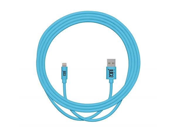 Juice 2m Lightning Charge and Sync Cable - Aqua