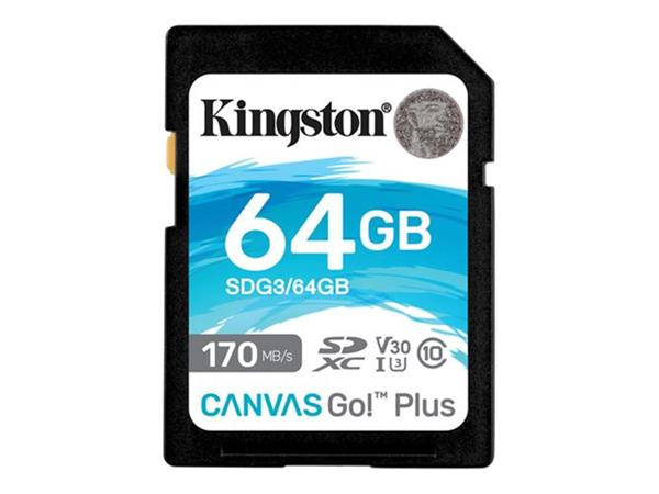 Kingston 64GB SDXC CanvasGo Plus SD Card