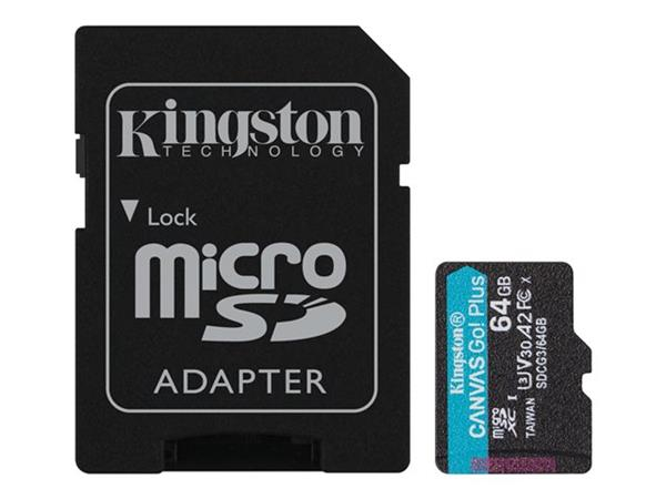 Kingston 64GB microSD CanvasGo Plus Card