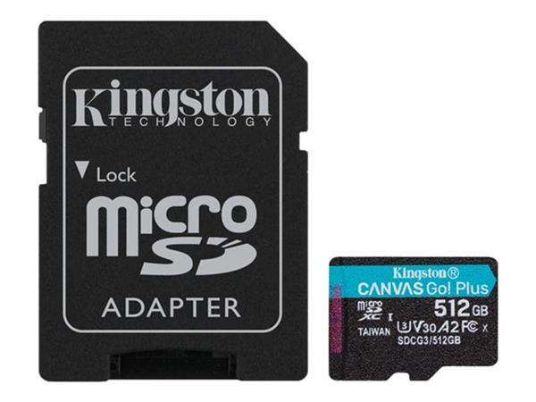 Kingston 512GB microSD CanvasGo Plus Card