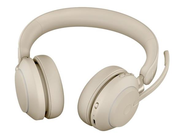 Jabra Evolve2 65 USB-C UC Stereo Headset with Desk Stand - Beige