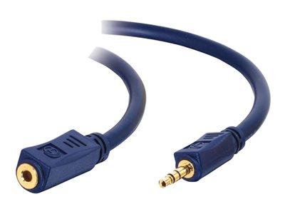 C2G 1m Velocity™ 3.5mm M/F Stereo Audio Extension Cable