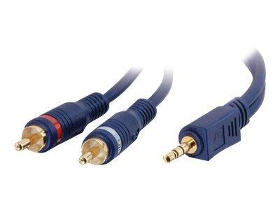C2G 1m Velocity™ One 3.5mm Stereo Male to Two RCA Male Y-Cable