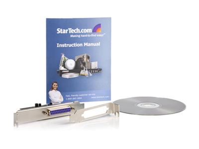 StarTech.com 1 Port PCI Express Dual Profile Parallel Adapter Card -  SPP/EPP/ECP