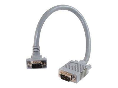 C2G 7m Premium Shielded HD15 SXGA M/M Monitor Cable with 90° Down Angled Male Connector