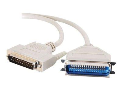 C2G 15m DB25 Male to Centronics 36 Male Parallel Printer Cable