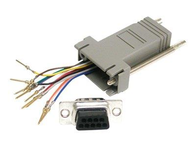 C2G 10-pin RJ45 to DB9 Male Modular Adapter