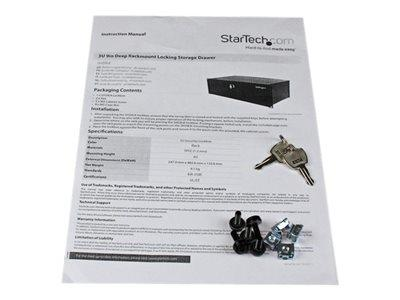 StarTech.com 3U 9in Deep Rackmount Locking Storage Drawer
