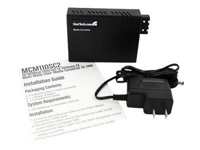 StarTech.com 10/100 Ethernet to Multi Mode Fiber Media Converter SC 2 km