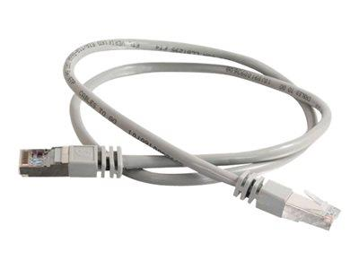 C2G 1m Shielded Cat5E Moulded Patch Cable - Grey