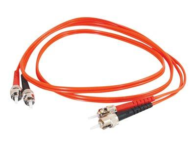 C2G 5m ST/ST LSZH Duplex 62.5/125 Multimode Fibre Patch Cable - Orange