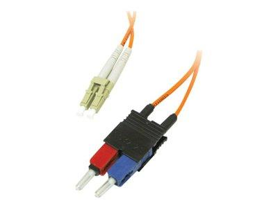 C2G 3m LC/SC LSZH Duplex 62.5/125 Multimode Fibre Patch Cable - Orange