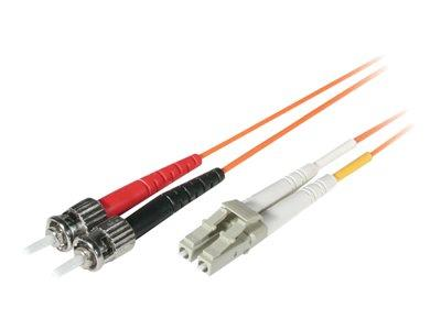 C2G 1m LC/ST LSZH Duplex 62.5/125 Multimode Fibre Patch Cable - Orange