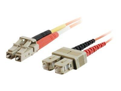 C2G 2m LC/SC LSZH Duplex 50/125 Multimode Fibre Patch Cable - Orange