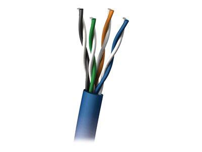 C2G 305m Cat5E UTP 350 MHz Solid PVC CMR-Rated Cable - Blue
