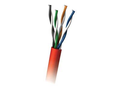 C2G 305m Cat5E UTP 350 MHz Solid PVC CMR-Rated Cable - Red