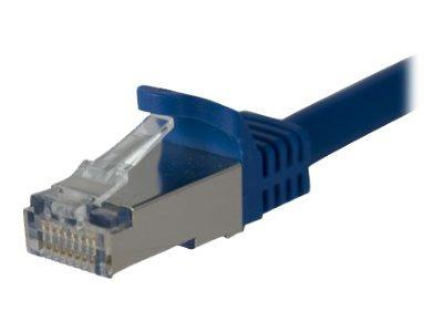StarTech.com 1 ft Cat 6a Blue Shielded Molded 10 Gigabit RJ45 STP Cat6a Patch Cable