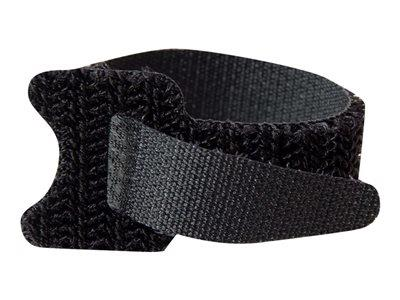 C2G 150mm Hook-and-Loop Cable Management Straps - Black - 12pk
