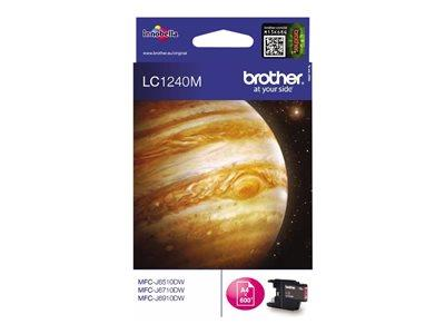Brother LC1240M - Print cartridge - 1 x magenta - 600 pages