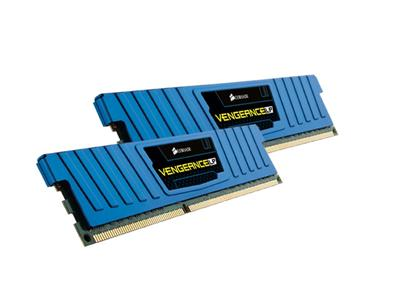 Corsair 8GB (2x4GB) DDR3 1600Mhz CL9 Vengeance Low Profile Blue Performance Desktop Memory Kit